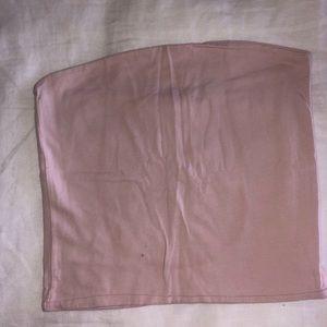 Blush pink brandy Melville tube top